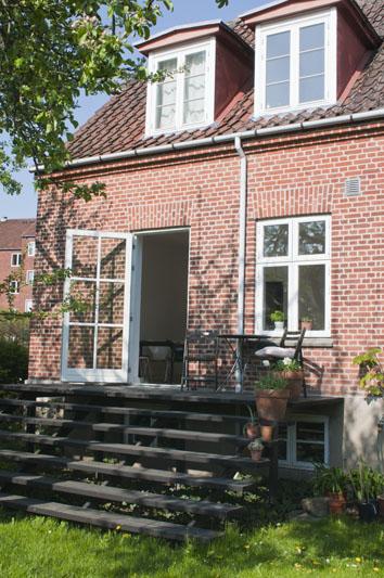 Terrasse trappe i træ