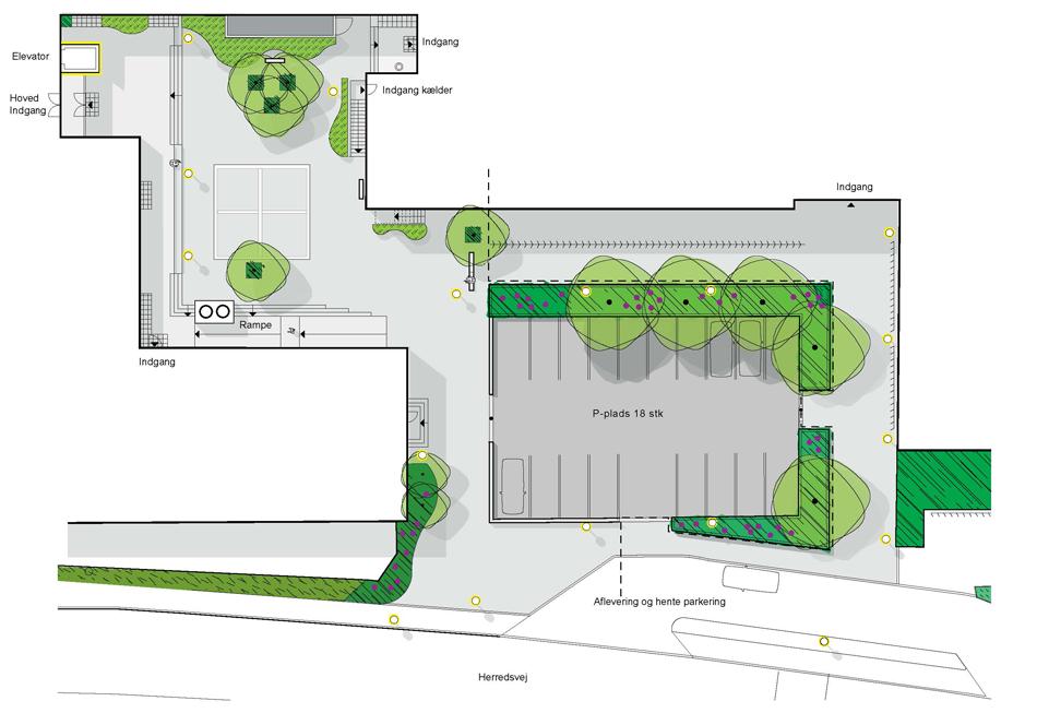 Hasleskole nyt ankomst areal og skolegår i forbindelse med renovering af indgangsparti