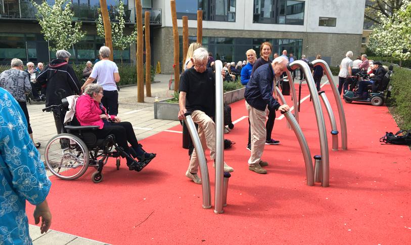 Motion aktive ældre plejehjems have