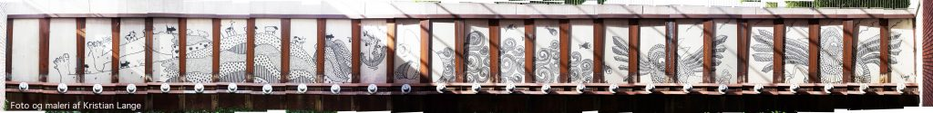 Vægmaleri Kristian Lange Plejehjemmet Sifgård fornyelse af plejehjems haver Julie Trier landskabsarkitekt kunst i byrummet skjuldt kunst